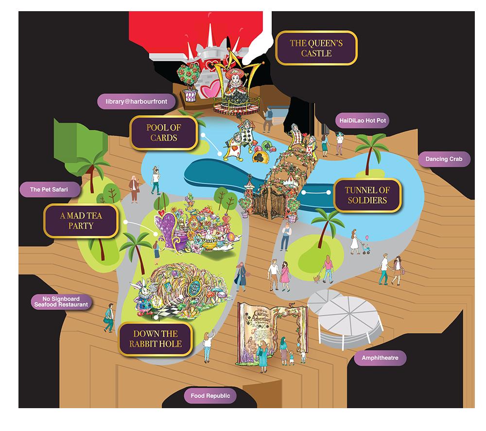 VivoCity Mid Autumn Celebrations 2019 Map