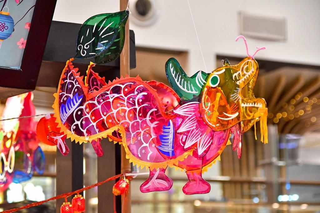 Traditional Chinese Mid-Autumn Festival Lantern.