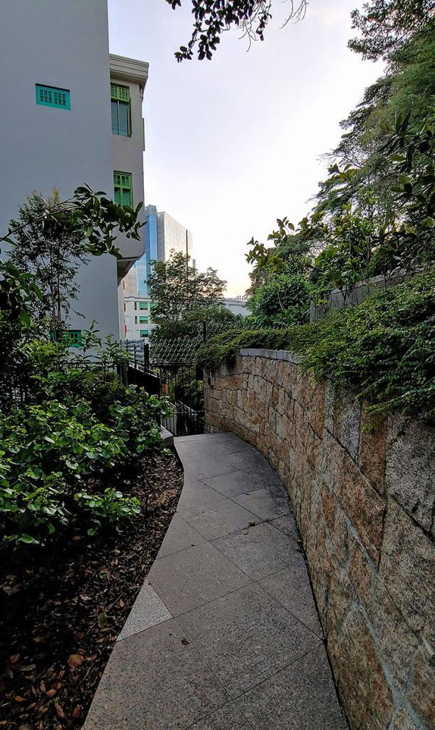 Path from Fort Canning to the Ministry of Communications & Information HQ.