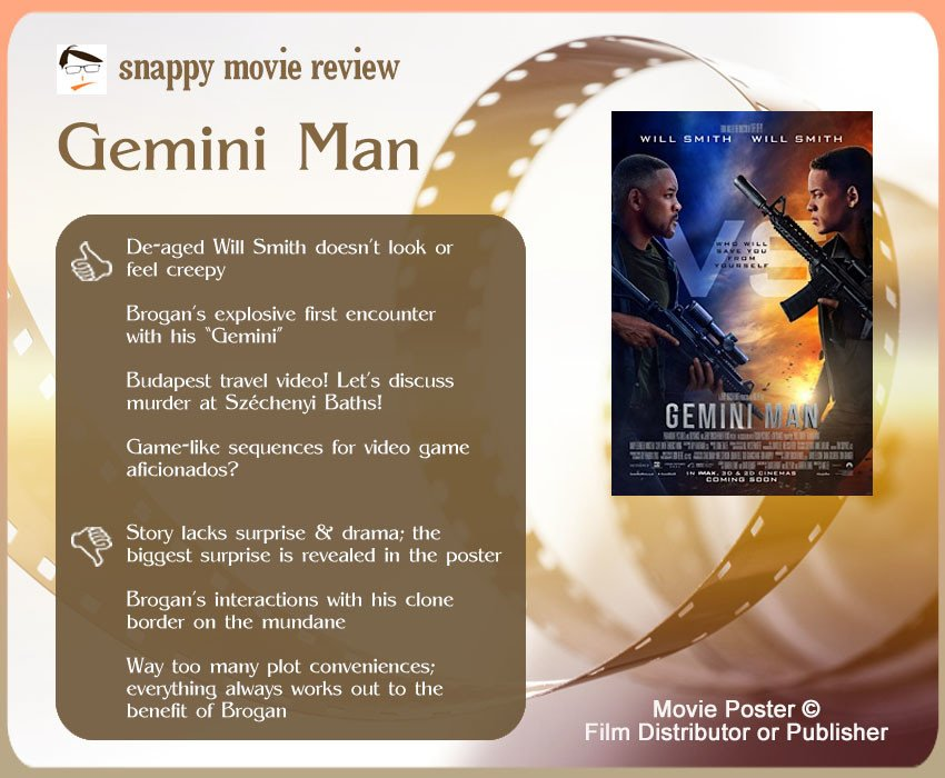 Gemini Man Movie Review: 4 thumbs-up and 3 thumbs-down