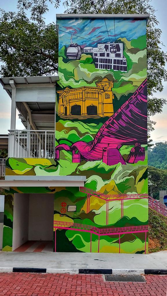 Radin Mas Community Club Mural.