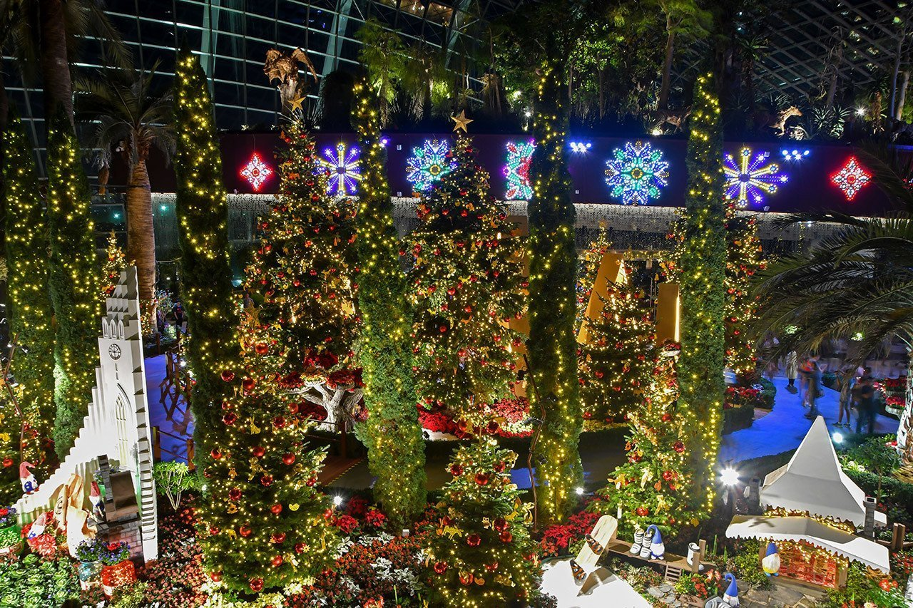 Poinsettia Wishes 2019 | Gardens by the Bay, Singapore