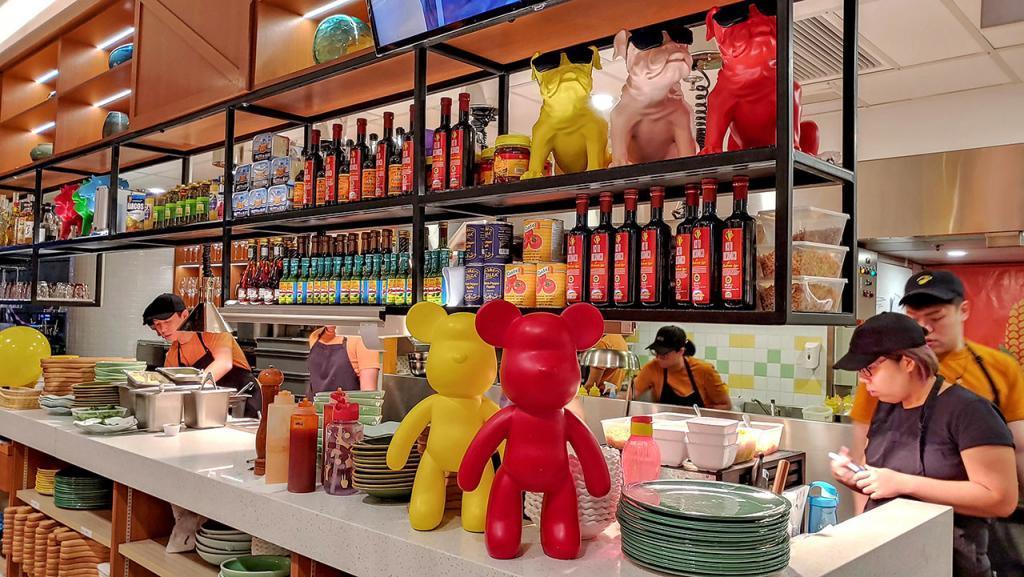 TONITO Latin American Kitchen Open Kitchen view.