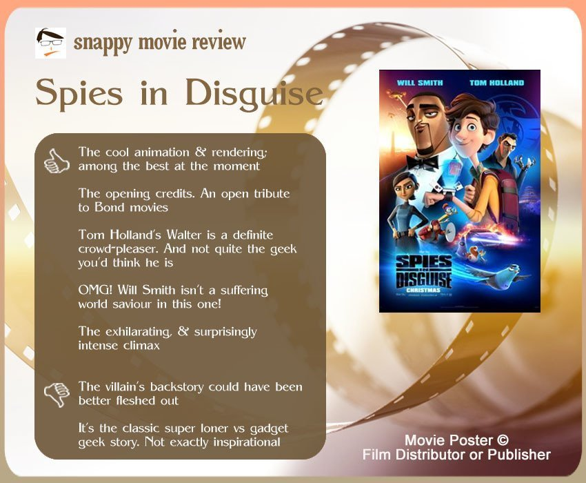 Spies in Disguise Movie Review: 5 thumbs-up and 2 thumbs-down.