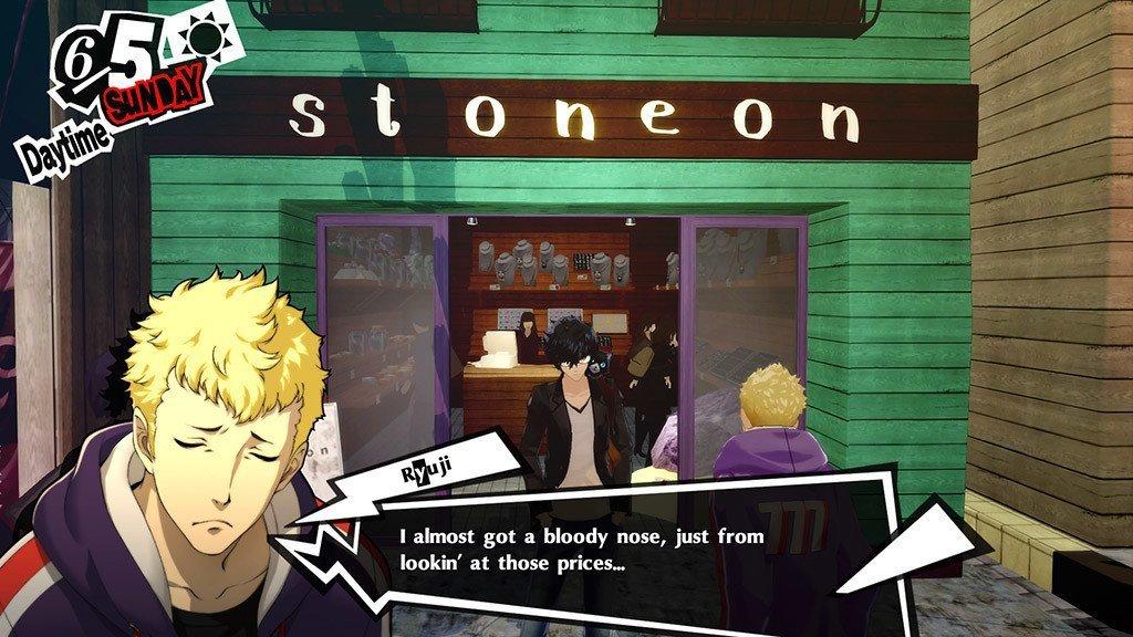 Persona 5 Stoneon Shop.