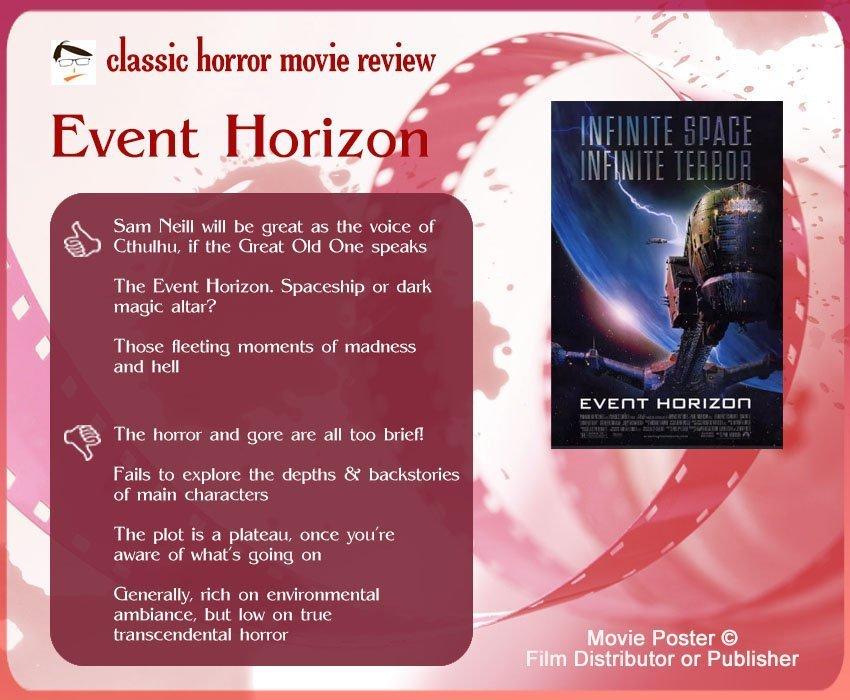 Event Horizon Review - 3 thumbs up and 4 thumbs down.