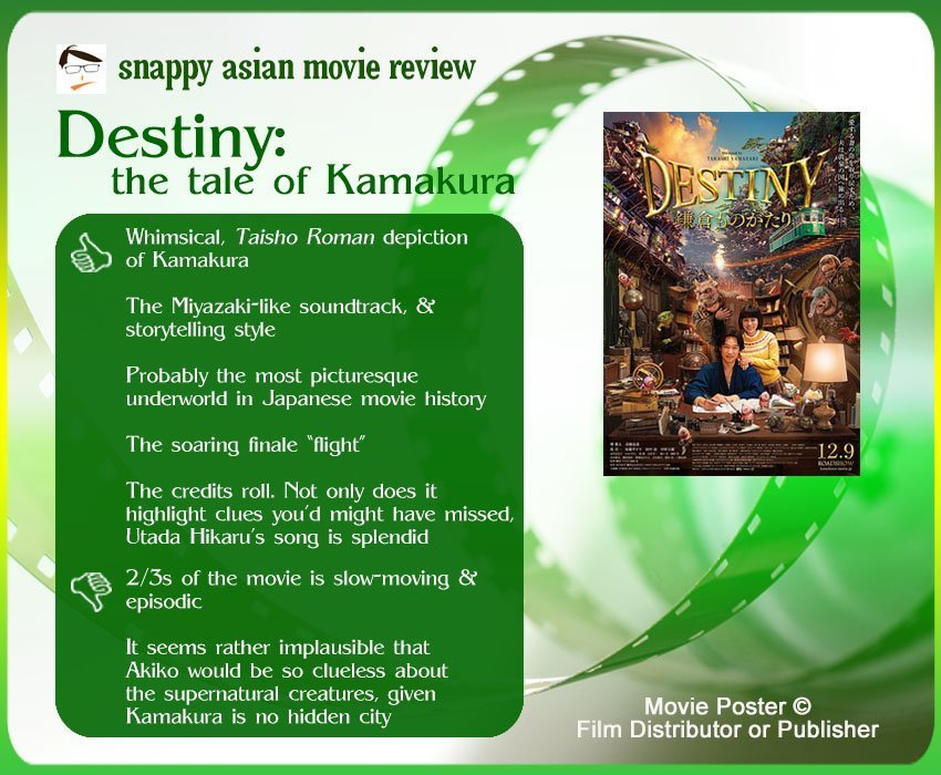 Destiny: The Tale of Kamakura (DESTINY 鎌倉ものがたり) Review: 5 thumbs-up and 2 thumbs-down.