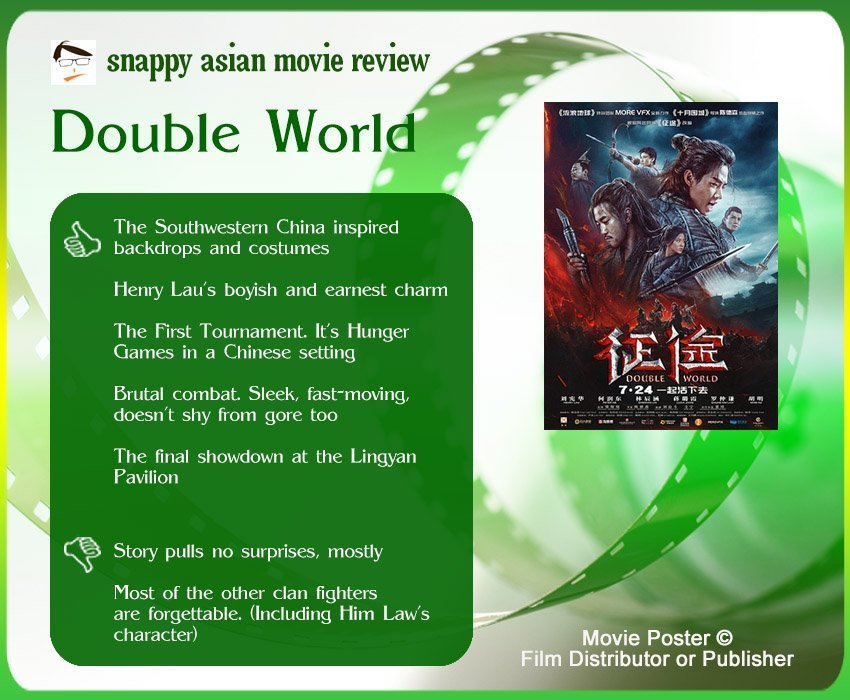 Double World (征途) Review: 5 thumbs-up and 2 thumbs-down.