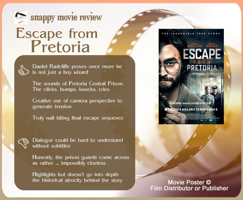 Escape from Pretoria Review: 4 thumbs-up and 3 thumbs-down.