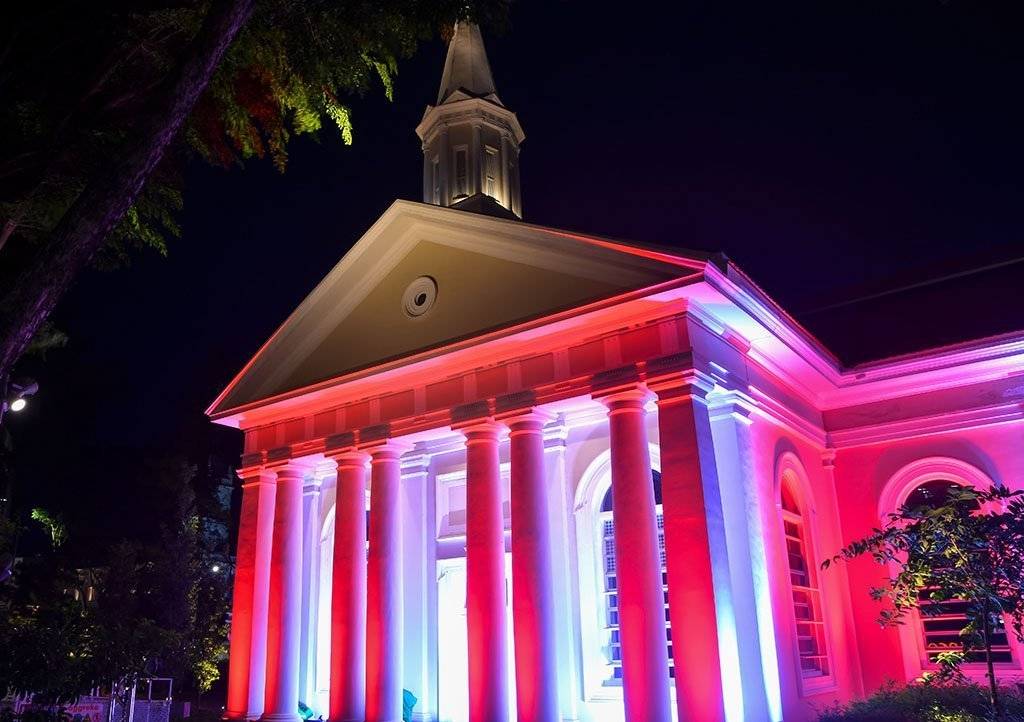Cathedral of the Good Shepard National Day Light-Up.