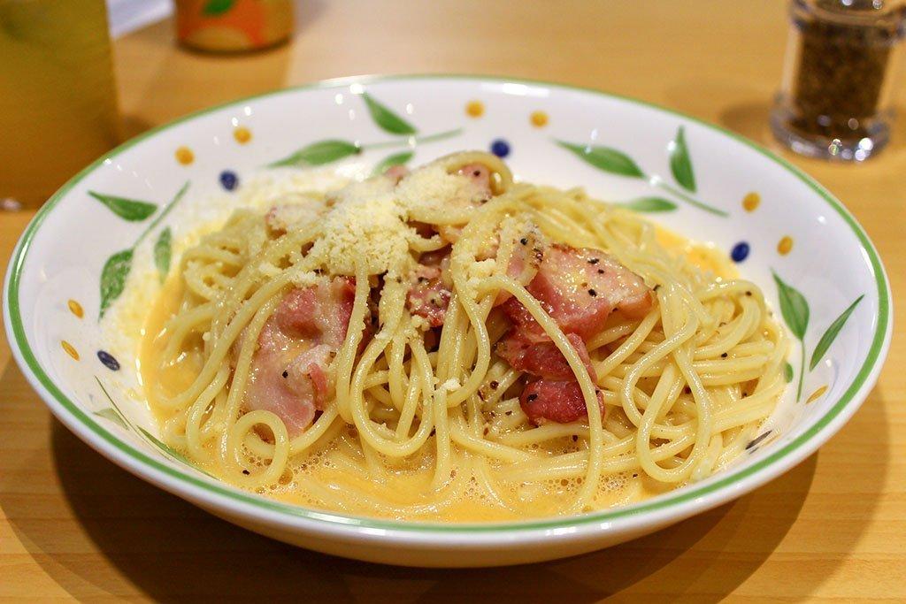 Saizeriya Pasta Carbonara.