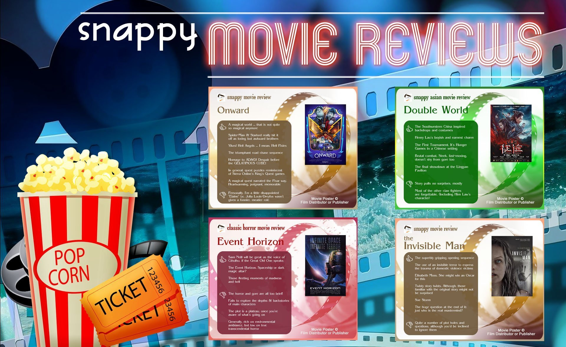 Snappy Movie Reviews by the Scribbling Geek (Updated regularly!)