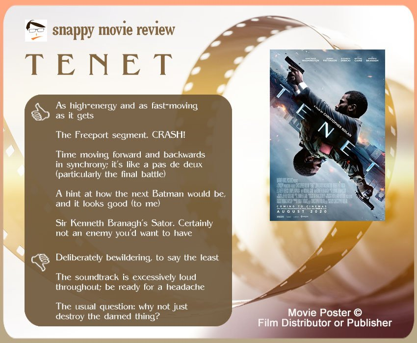 Tenet Movie Review: 5 thumbs-up and 3 thumbs-down.