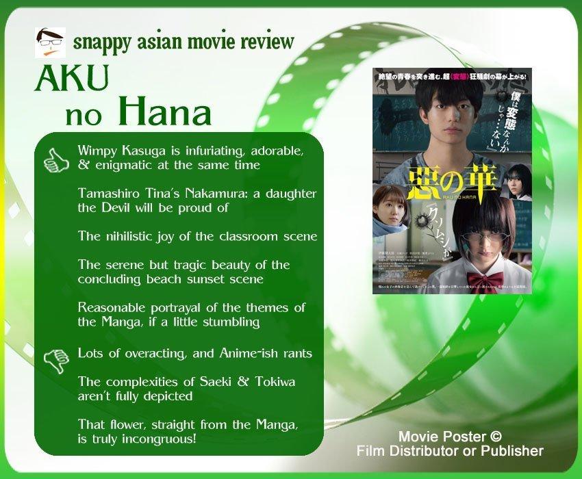 Aku no Hana (惡の華) Review: 5 thumbs-up and 3 thumbs-down.