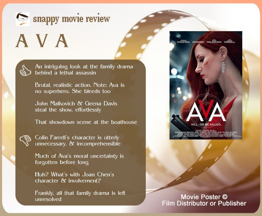 Ava Movie Review: 4 thumbs-up and 4 thumbs-down.