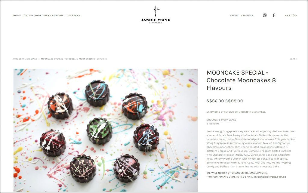 Janice Wong Chocolate Mooncakes