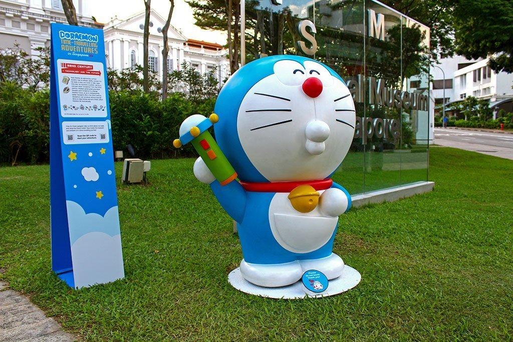 Doraemon at National Museum Singapore.