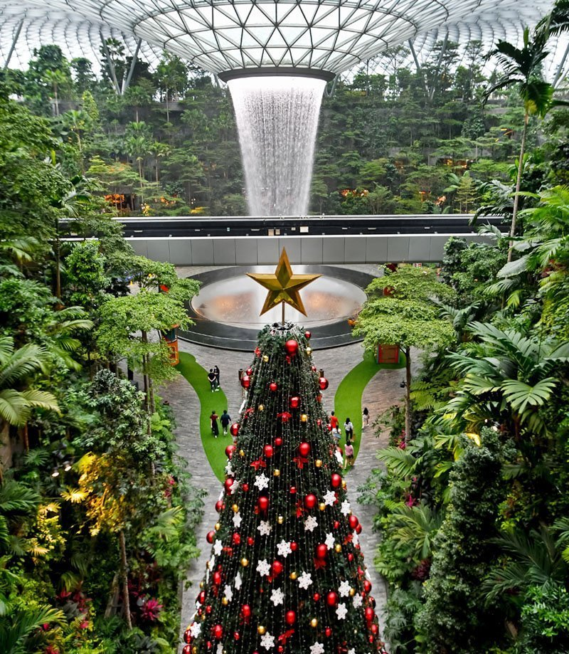 Jewel Changi Airport Christmas Tree 2020.