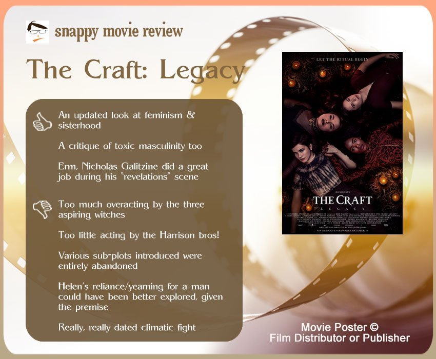The Craft: Legacy Review: 3 thumbs-up and 5 thumbs-down.