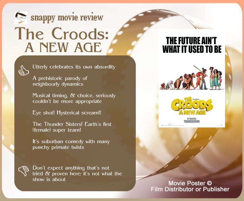 The Croods: A New Age Review: 6 thumbs-up and 1 thumbs-down.