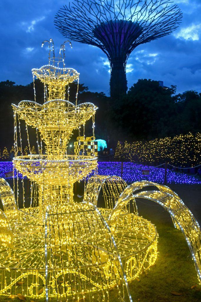 Golden Wishing Fountain.