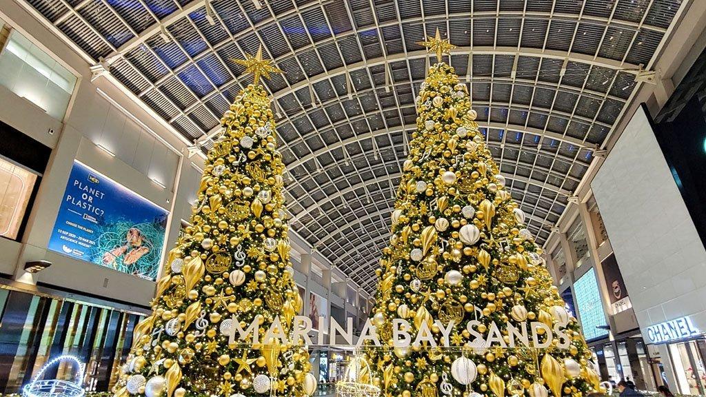 Marina Bay Sands Christmas Tree 2020.