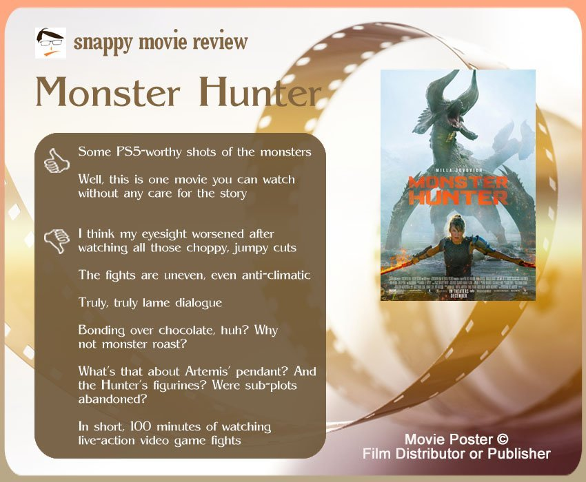 Monster Hunter Movie Review: 2 thumbs-up and 5 thumbs-down.
