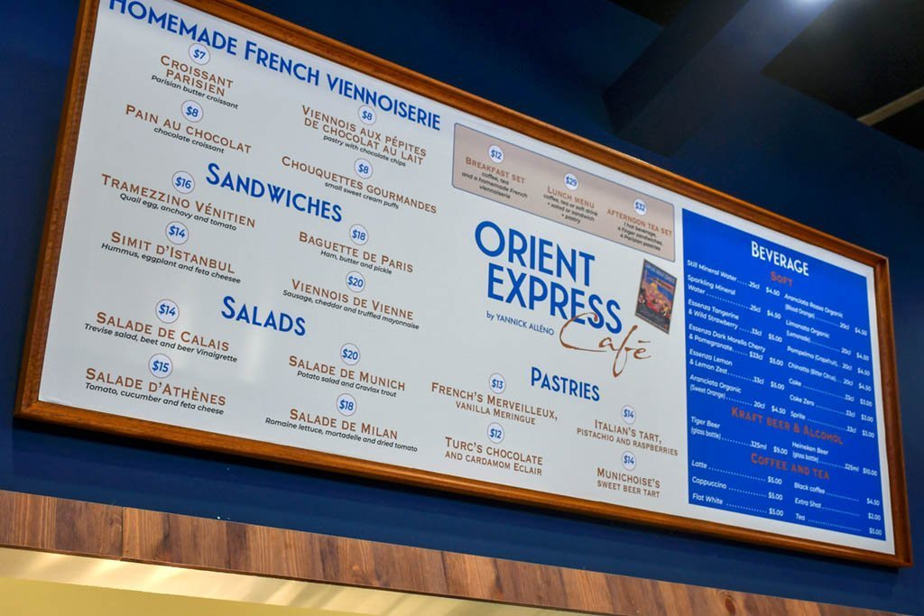 Orient Express Cafe Menu and Prices