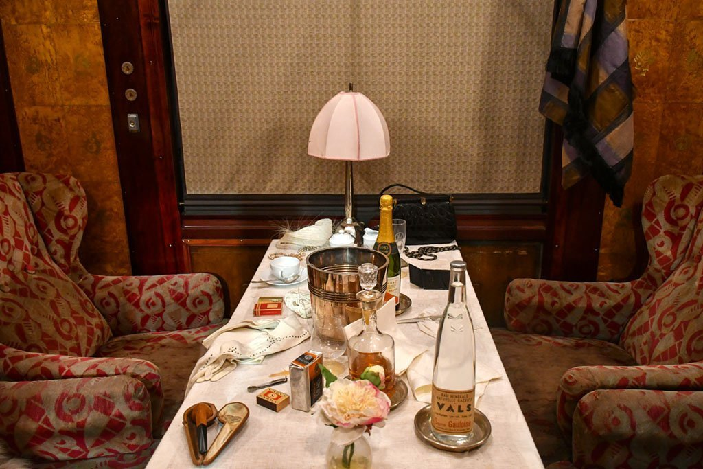 Historical Orient Express Booth.