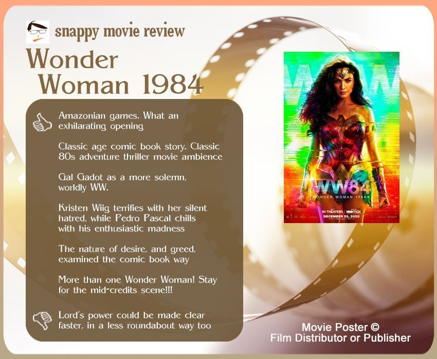Wonder Woman 1984 Review: 6 thumbs-up and 1 thumbs-down.