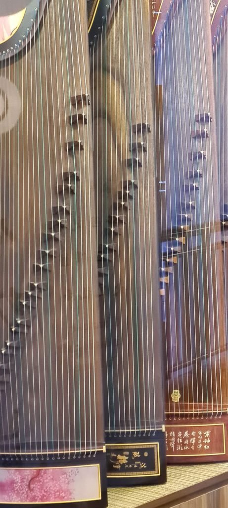 Chinese zithers in Singapore.