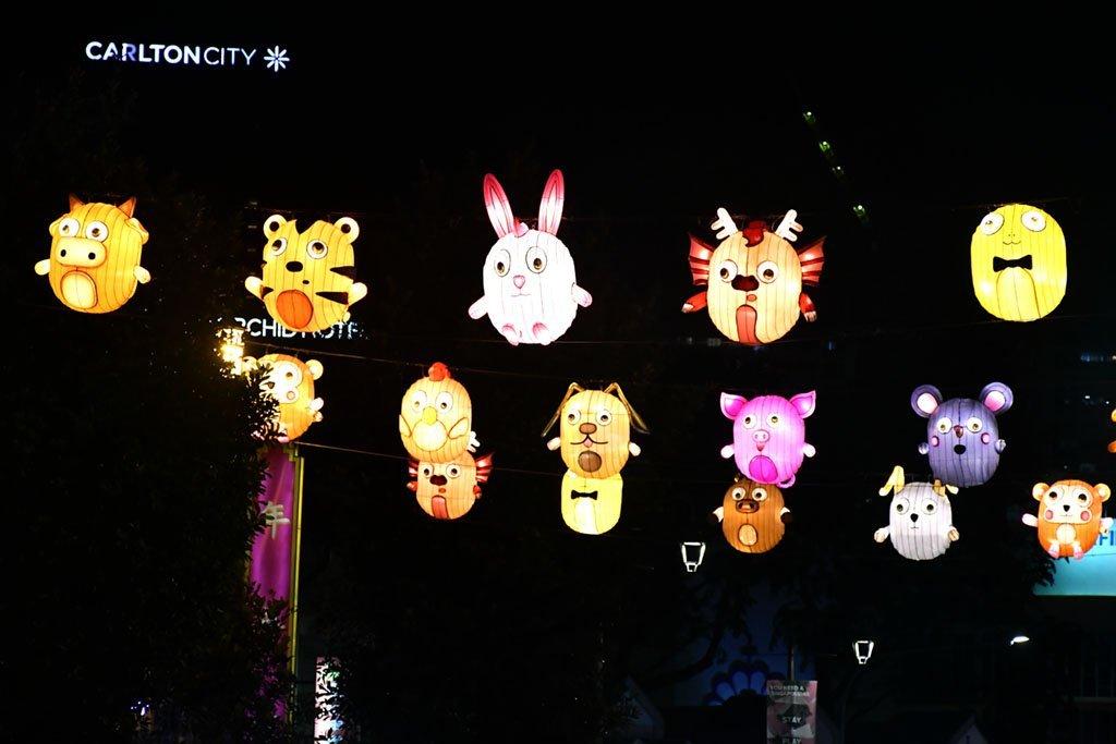 Chinese Zodiac lanterns.