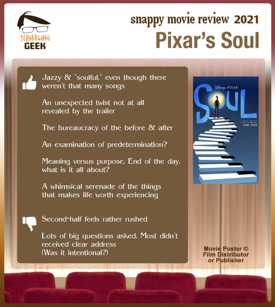 Pixar's Soul Review: 6 thumbs-up and 2 thumbs-down.