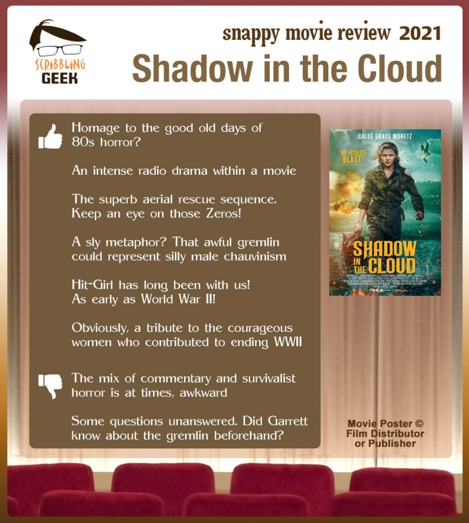 Shadow in the Cloud Review: 6 thumbs-up and 2 thumbs-down.