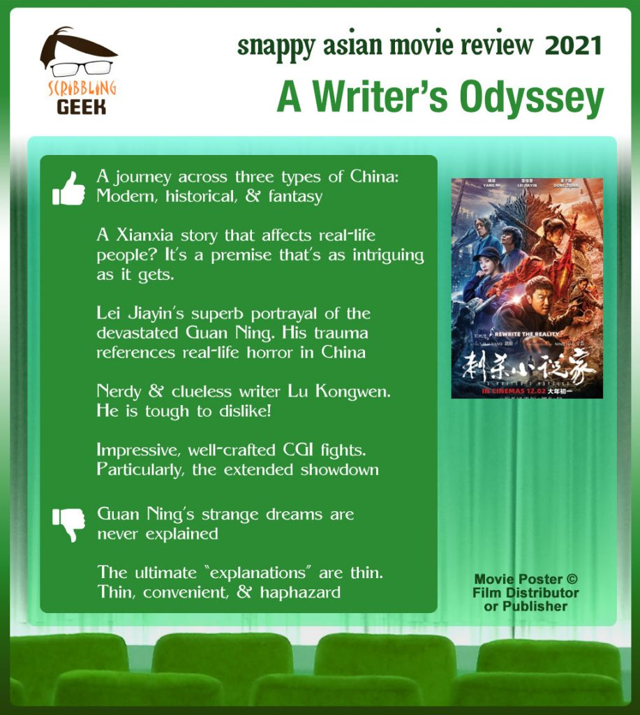 A Writer's Odyssey (刺杀小说家) Review: 5 thumbs-up and 2 thumbs-down.
