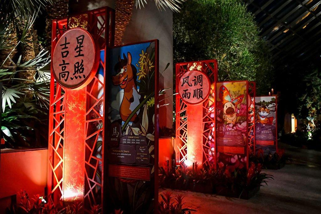Chinese Zodiac displays.