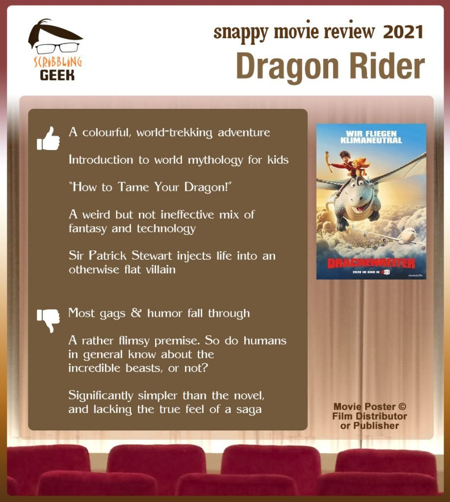 Dragon Rider Movie Review: 5 thumbs-up and 3 thumbs-down
