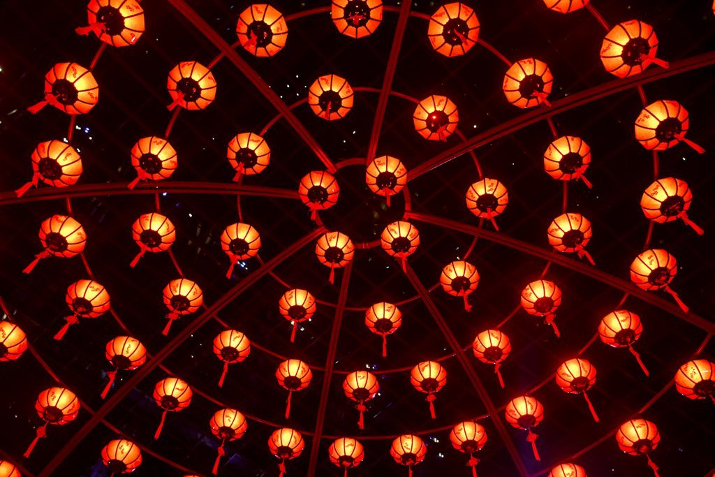 Gardens by the Bay Red Lanterns Dome