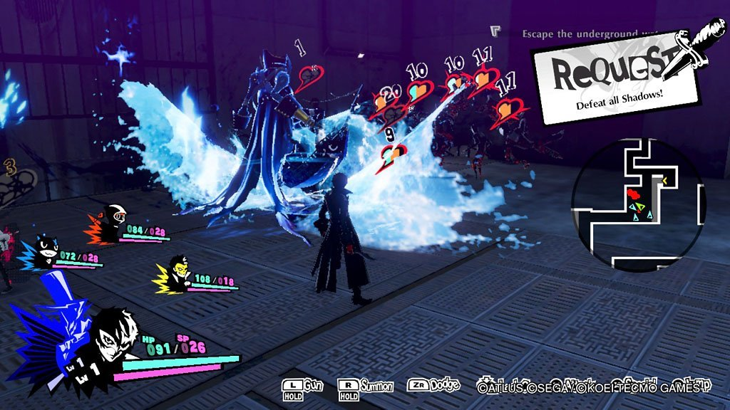 Persona 5 Strikers Combat