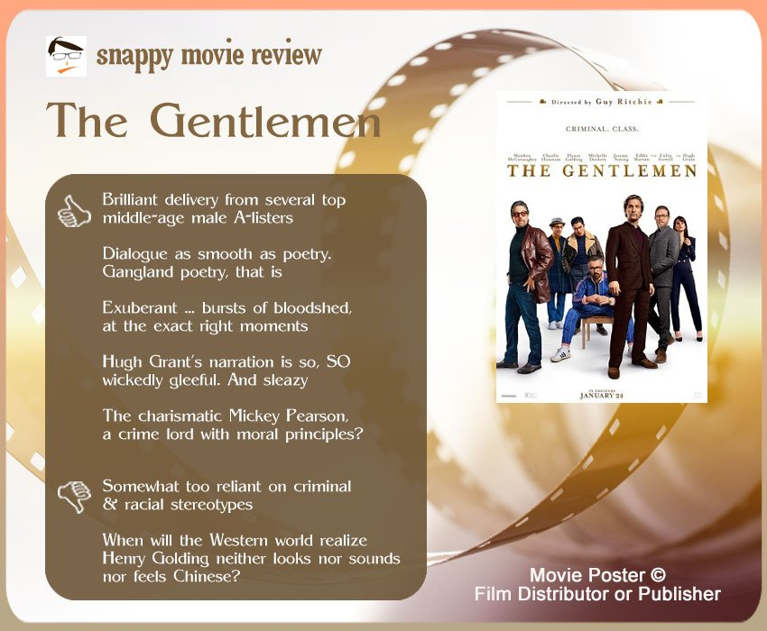 The Gentlemen Review: 5 thumbs-up and 2 thumbs-down.