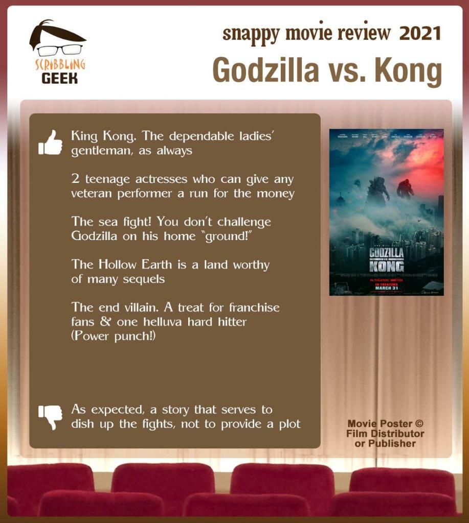 Godzilla vs. Kong Review: 5 thumbs-up and 1 thumbs-down