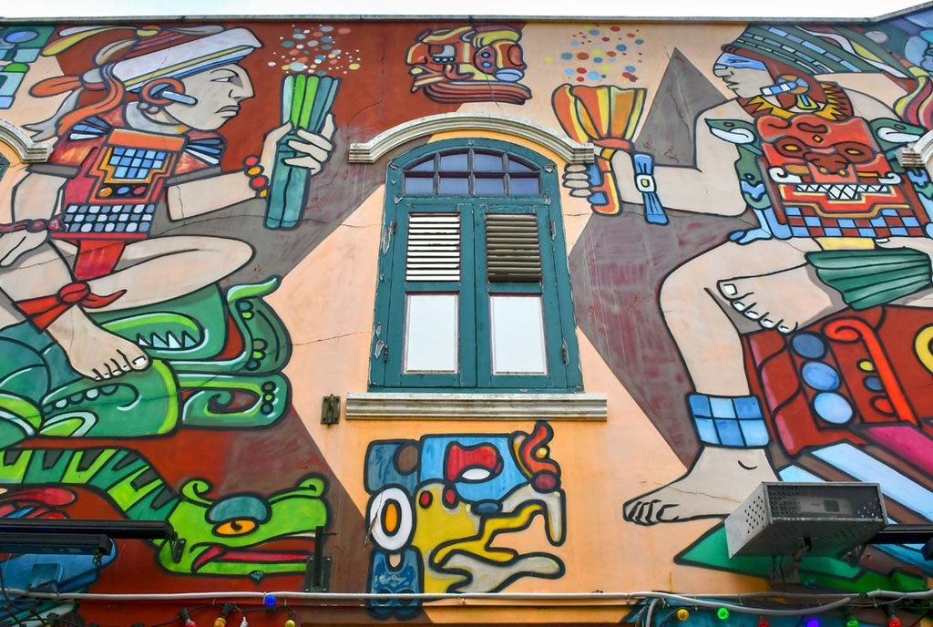 Haji Lane Aztec Art