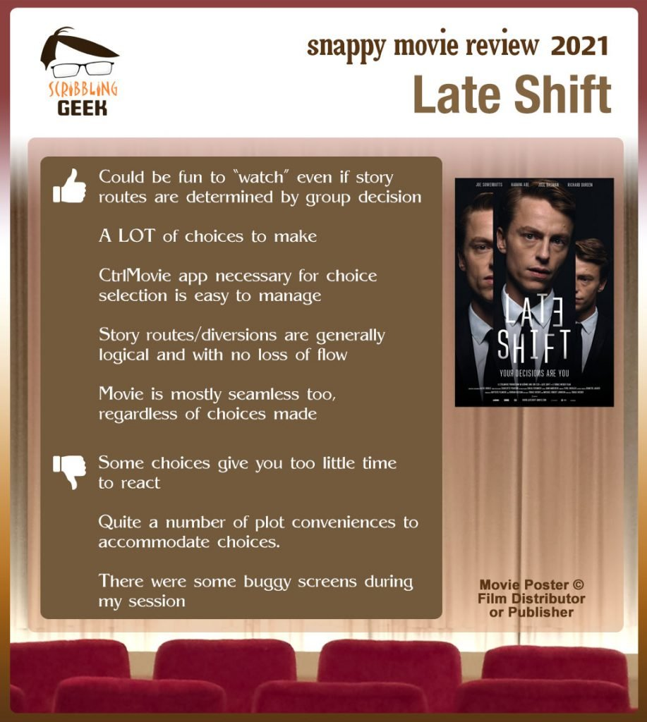 Late Shift Movie Review: 5 thumbs-up and 3 thumbs-down.