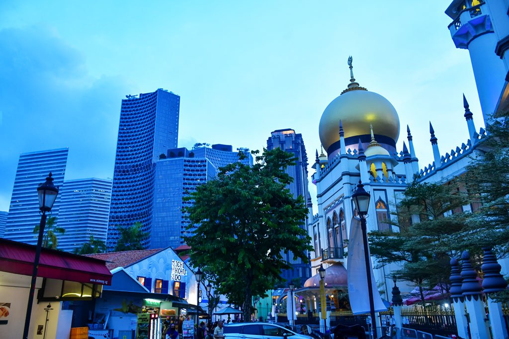 Sultan Mosque Evening Shot
