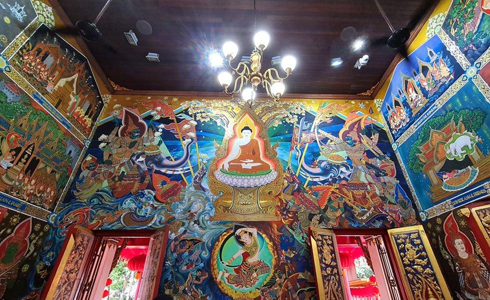 Wat Ananda Metyarama Murals