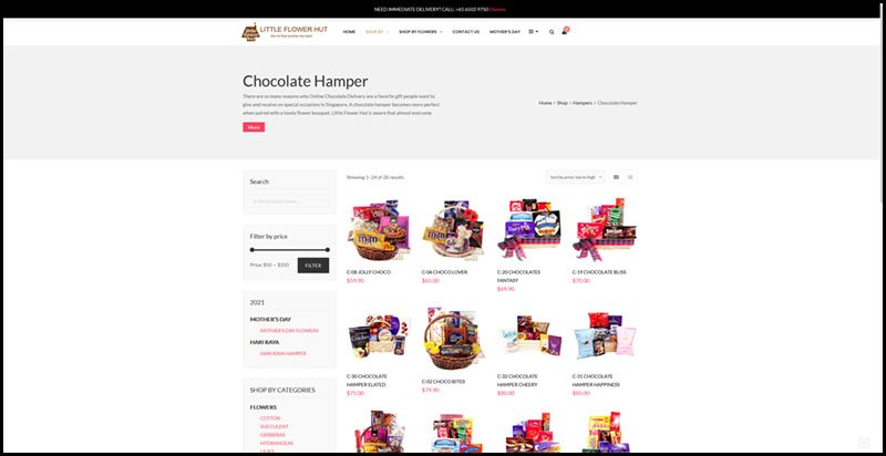 Chocolate Hampers in Singapore | Little Flower Hut