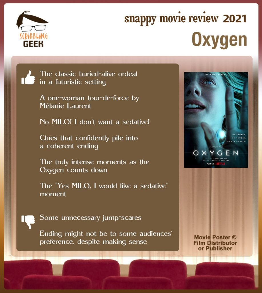 Oxygen Movie Review: 6 thumbs-up and 2 thumbs-down.