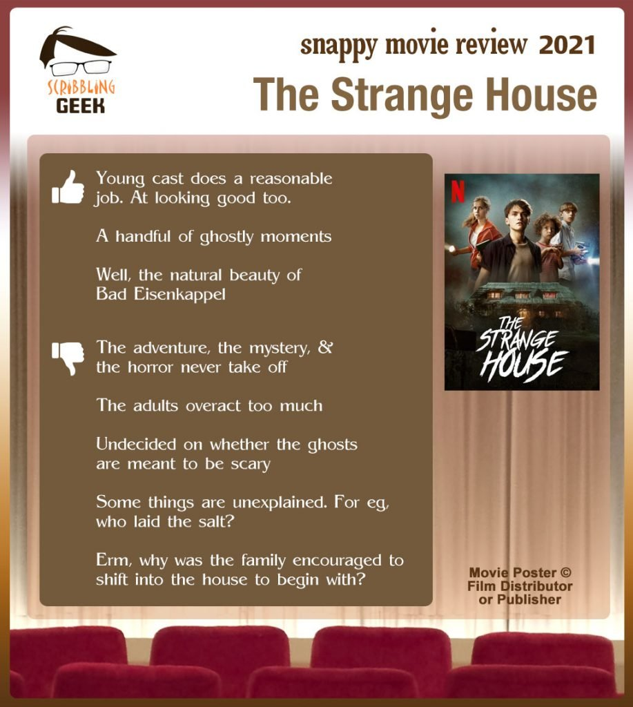 The Strange House Review: 3 thumbs-up and 5 thumbs-down.