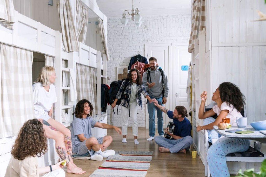 Meeting fellow travelers at hostels