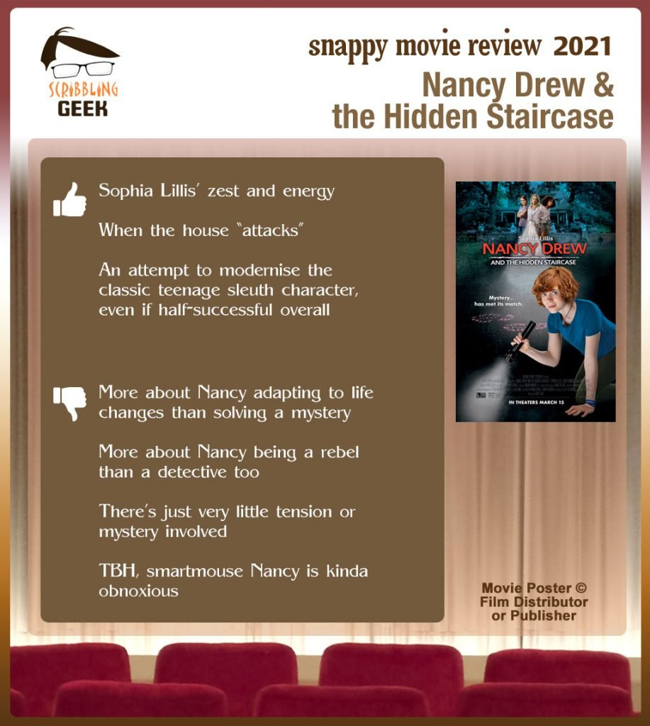 Nancy Drew and the Hidden Staircase: 3 thumbs-up and 4 thumbs-do